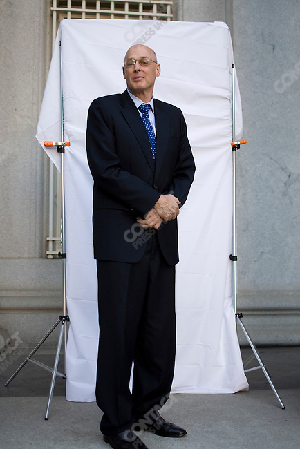 United States Treasury Secretary Henry Paulson. In front of the US Treasury building, Washington, D.C.  September 24, 2008.