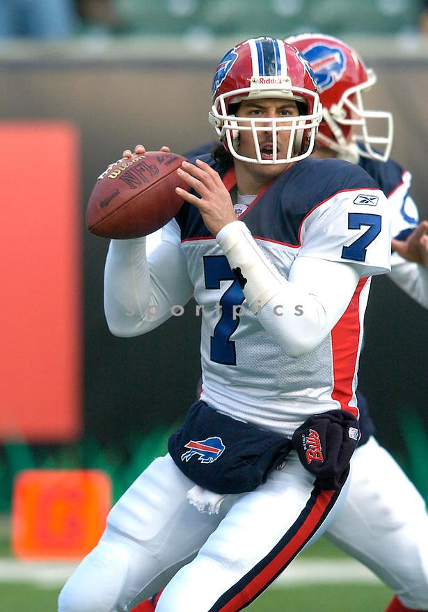 JP Losman during the Buffalo Bills v. Cincinnati Bengals game on December 19, 2004...Bills win 33-17..Chris Bernacchi / SportPics