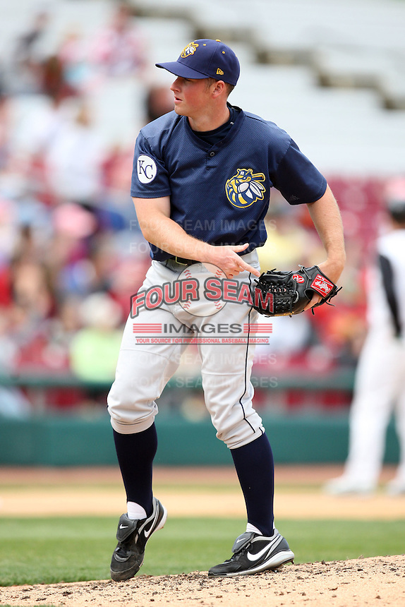 April 11 2010: Scott Kelley of the Burlington Bees. The Bees are the Low A affiliate of the Kansas City Royals. Photo by: Chris Proctor/Four Seam Images