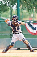 Byron Aird of the Gulf Coast League Tigers during the game against the Gulf Coast League Braves July 3 2010 at the Disney Wide World of Sports in Orlando, Florida.  Photo By Scott Jontes/Four Seam Images