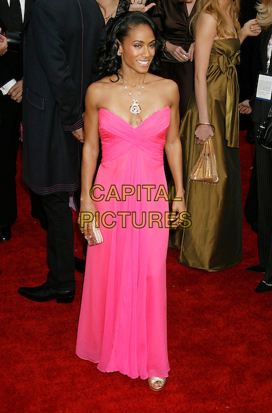 JADA PINKETT SMITH.Red Carpet Arrivals - 13th Annual Screen Actors Guild (SAG) Awards, held at the Shrine Auditorium, Los Angeles, California, USA, 28 January 2007..full length strapless pink dress .CAP/ADM/RE.©Russ Elliot/AdMedia/Capital Pictures.