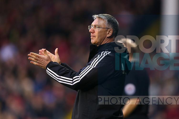 Sheffield United's manager, Nigel Adkins applauds - Sheffield United vs Bradford City - Skybet League One - Bramall Lane - Sheffield - 28/12/2015 Pic Philip Oldham/SportImage