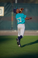 Kendrick Curry II (57), from Washington, DC, while playing for the Mariners during the Baseball Factory Pirate City Christmas Camp & Tournament on December 30, 2017 at Pirate City in Bradenton, Florida.  (Mike Janes/Four Seam Images)