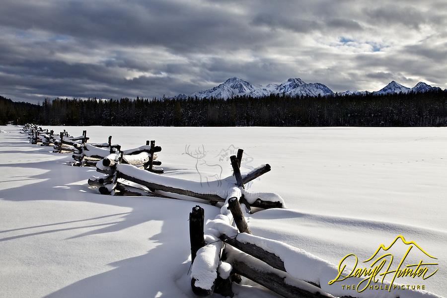 Sawtooth Range, Snake Rail Fence, Stanley, Idaho