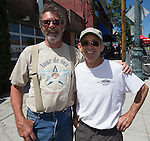 Steve Corkill and John Talbott at the Tour De Nez Bike Race in downtown Reno on Saturday, June 11, 2016.