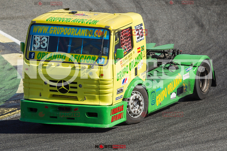 Spanish driver Orlando Rodriguez Ruiz belonging Spanish team Orlando Rodriguez Ruiz during the third race R3 of the XXX Spain GP Camion of the FIA European Truck Racing Championship 2016 in Madrid. October 02, 2016. (ALTERPHOTOS/Rodrigo Jimenez) /NORTEPHOTO.COM / © NORTEPHOTO.C OM