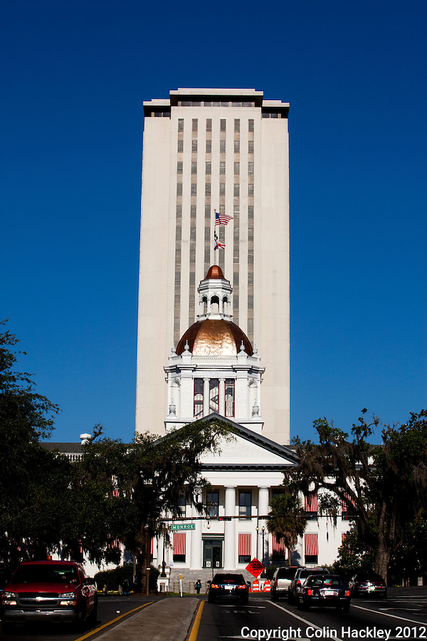 TALLAHASSEE, FLA. 4/26/12-FLORIDACAPITOL042612 CH-The Historic Capitol of Florida April 26, 2012 Tallahassee. Also known as The Old Capitol, the dome of the structure recently had a new copper roof installed..COLIN HACKLEY PHOTO