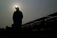 Huanggang, Hebei province, China - A statue of famous Song dynasty poet and politician Su Dongpo is seen at the Yiai Park, October 2014.