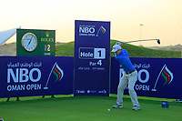 Gavin Moynihan (IRL) in action during the first round of the NBO Open played at Al Mouj Golf, Muscat, Sultanate of Oman. <br /> 15/02/2018.<br /> Picture: Golffile | Phil Inglis<br /> <br /> <br /> All photo usage must carry mandatory copyright credit (&copy; Golffile | Phil Inglis)
