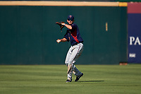 Lancaster JetHawks center fielder Forrest Wall (7) during a California League game against the Inland Empire 66ers at San Manuel Stadium on May 20, 2018 in San Bernardino, California. Inland Empire defeated Lancaster 12-2. (Zachary Lucy/Four Seam Images)