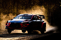 13th February 2020, Torsby base and Karlstad, Värmland County, Sweden; WRC Rally of Sweden, Shakedown event;  Craig BREEN (IRL) and Paul Nagle - Hyundai