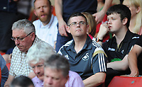 Swansea City fans during the Sky Bet Championship match between Sheffield United and Swansea City at Bramall Lane, Sheffield, England, UK. Saturday 04 August 2018