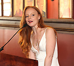 Lauren Ambrose during the 2018 Outer Critics Circle Theatre Awards presentation at Sardi's on May 24, 2018 in New York City.