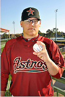 Feb 25, 2010; Kissimmee, FL, USA; The Houston Astros pitcher Gustavo Chacin (73) during photoday at Osceola County Stadium. Mandatory Credit: Tomasso De Rosa/ Four Seam Images