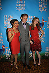 "Shalita Grant, Billy Magnussen, Genevieve Angelson ..star iin Broadway's ""Vanya and Sonia and Masha and Spike"" which had its opening night on March 14, 2013 at the Golden Theatre, New York City, New York.  (Photo by Sue Coflin/Max Photos)"