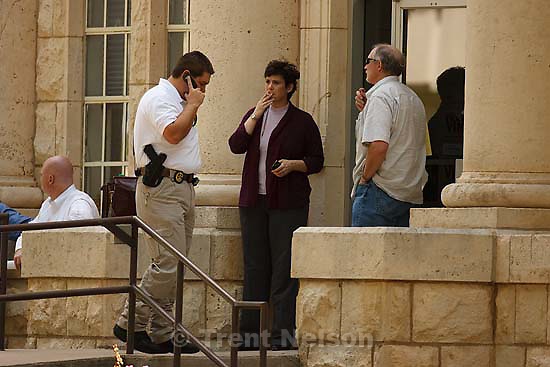 Eldorado - at the Schleicher County Courthouse Wednesday, June 25, 2008, where a grand jury met to hear evidence of possible crimes involving FLDS church members from the YFZ ranch. Natalie Malonis, Sam Brower