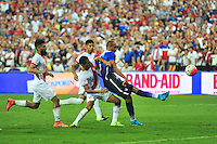 John Brooks of USA misses a shot on goal. USA defeated Peru 2-1 during a Friendly Match at the RFK Stadium in Washington, D.C. on Friday, September 4, 2015.  Alan P. Santos/DC Sports Box