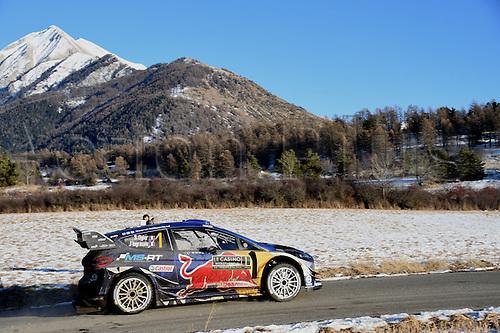 January 20th 2017, Monte Carlo, Monaco; 2017 WRC Monte Carlo Rally;   Sebastien Ogier (Ford Fiesta WRC)