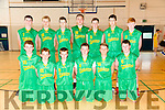 South West Team at the Under 16 basketball tournament in Mounthawk on Saturday front l-r Darragh Broderick, Rory Murphy, Damien Cronin, PJ Curtin, Liam Smith, Back l-r Ronan Collins, Alan Dineen, Cian Godley, RAF, James Fername, Darragh Brosnan, Ziggie, James Darmody