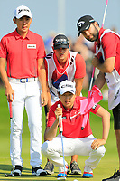 Team South Korea / Soomin Lee &amp; Jeunghun Wang in action on day 2 at the GolfSixes played at The Centurion Club, St Albans, England. <br /> 06/05/2018.<br /> Picture: Golffile | Phil Inglis<br /> <br /> <br /> All photo usage must carry mandatory copyright credit (&copy; Golffile | Phil Inglis)