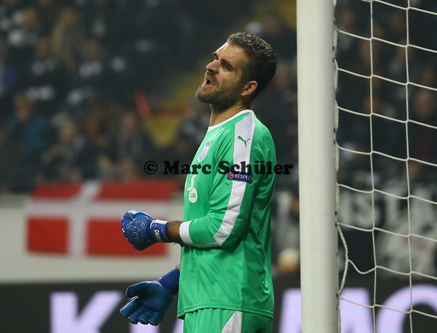 Torwart Bruno Vale (Apollon Limassol FC) - 25.10.2018: Eintracht Frankfurt vs. Apollon Limassol FC, Commerzbank Arena, Europa League 3. Spieltag, DISCLAIMER: DFL regulations prohibit any use of photographs as image sequences and/or quasi-video.