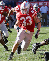 07 October 2006: Ohio State linebacker James Laurinaitis..The Ohio State Buckeyes defeated the Bowling Green Falcons 35-7 on October 7, 2006 at Ohio Stadium, Columbus, Ohio.