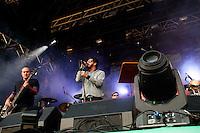 SÃO PAULO, SP, 12.06.2016 - FESTIVAL-SP - A banda Nação Zumbi se apresenta na 20º edição do Festival de música Cultura Inglesa, no Memorial da América Latina, na Barra Funda, nesse domingo 12. (Foto: Gabriel Soares/Brazil Photo Press)