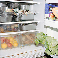 A look inside a fridge at the Millbrook School's private zoo.