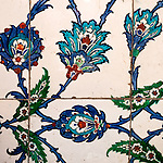 Iznik 22 - Iznik tiles in the tomb of Sultan Ahmet, Sultanahmet, Istanbul, Turkey