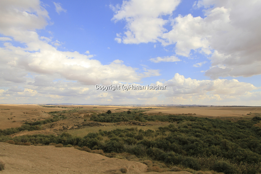 Israel, Northern Negev, a view from Tel esh-Sharia, site of Biblical Ziklag
