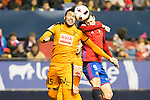 "Eibar's Mauro dos Santos, Club Atletico Osasuna's Oriol Riera  during the match of ""Copa del Rey"" between CA Osasuna and Eibar at El Sadar Stadium in Pamplona. January 03 2017. (ALTERPHOTOS/Rodrigo Jimenez)"