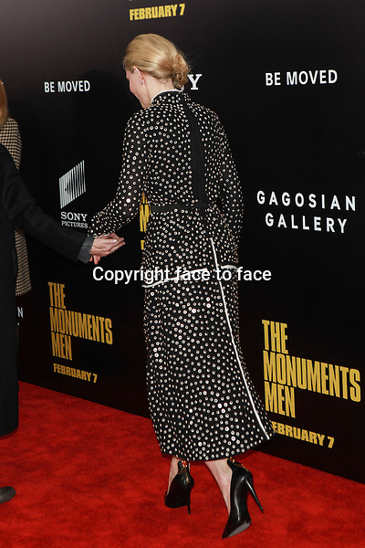NEW YORK, NY - FEBRUARY 4: Cate Blanchett attends 'The Monuments Men' premiere at Ziegfeld Theater on February 4, 2014 in New York City, New York. Credit: Corredor99/MediaPunch<br /> <br /> Credit: MediaPunch/face to face<br /> - Germany, Austria, Switzerland, Eastern Europe, Australia, UK, USA, Taiwan, Singapore, China, Malaysia, Thailand, Sweden, Estonia, Latvia and Lithuania rights only -
