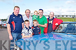 VINTAGE CARS: Taking part in the Kingdom Veteran Vintage & Classic Car Club Summer Run at O'Donnell's restaurant and bar, Tralee on Friday front l-r: Liam Pigott and Ciaran Commane. Back l-r: Mike Pigott, Mike Sheehy, Eoin Commane, Tommy Commane and Garrett Foley.