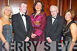 Evening: Sharing a good evening at the Annual Furniture Ball on Saturday at Ballygarry House, Tralee, were Geraldine OSullivan, Mike Moriarty, Brid Moriarty, Paddy ODonoghue and Laura Aherne (all from Killorglin)..