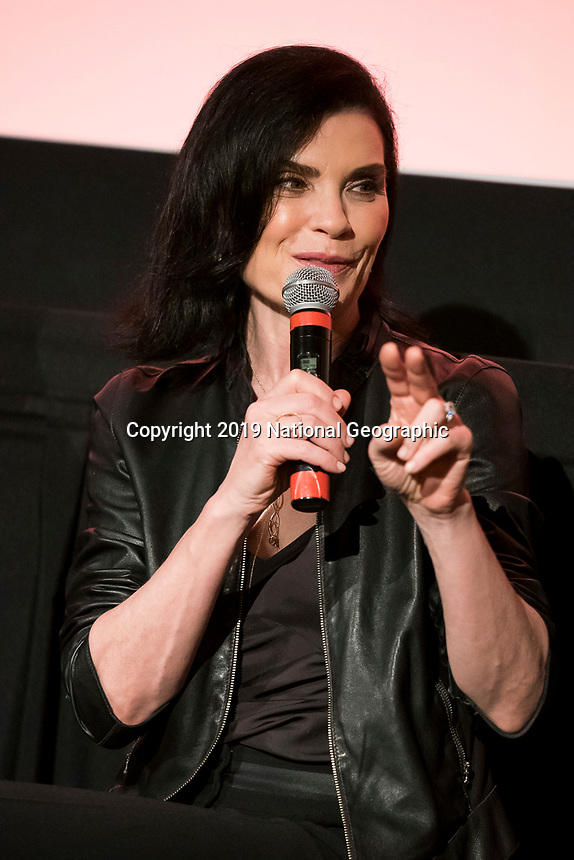 "NEW YORK - MAY 23: Julianna Margulies attends an FYC event for National Geographic's ""The Hot Zone"" at Metrograph on May 23, 2019 in New York City. (Photo by Ben Hider/National Geographic/PictureGroup)"