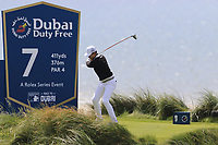 Jeunghun Wang (KOR) tees off the 7th tee during Thursday's Round 1 of the Dubai Duty Free Irish Open 2019, held at Lahinch Golf Club, Lahinch, Ireland. 4th July 2019.<br /> Picture: Eoin Clarke | Golffile<br /> <br /> <br /> All photos usage must carry mandatory copyright credit (© Golffile | Eoin Clarke)