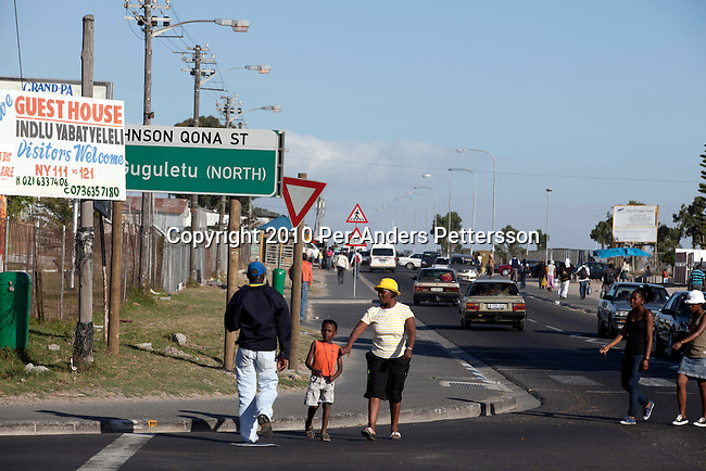 GUGULETU, SOUTH AFRICA - DECEMBER 14: The intersection where British honeymooners Anni Dewani, age28, and Shrien Dewani, age 31, were attached in their taxi on December 14, 2010, close to the Barcelona section of Guguletu, a township outside Cape Town, South Africa. Guguletu is one of the biggest black townships in Cape Town and it was here where where British honeymooners Anni Dewani, 28, and Shrien Dewani, 31, were attacked. Anni Dewani was found with bullets in her chest in the back of the taxi after the newly weds were ambushed whilst traveling near a notorious settlement known as Barcelona. (Photo by Per-Anders Pettersson/Getty Images)