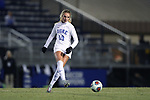 DURHAM, NC - NOVEMBER 17: Duke's Schuyler DeBree. The Duke University Blue Devils hosted the Oklahoma State University Cowboys on November 17, 2017 at Koskinen Stadium in Durham, NC in an NCAA Division I Women's Soccer Tournament Second Round game. Duke won the game 7-0.