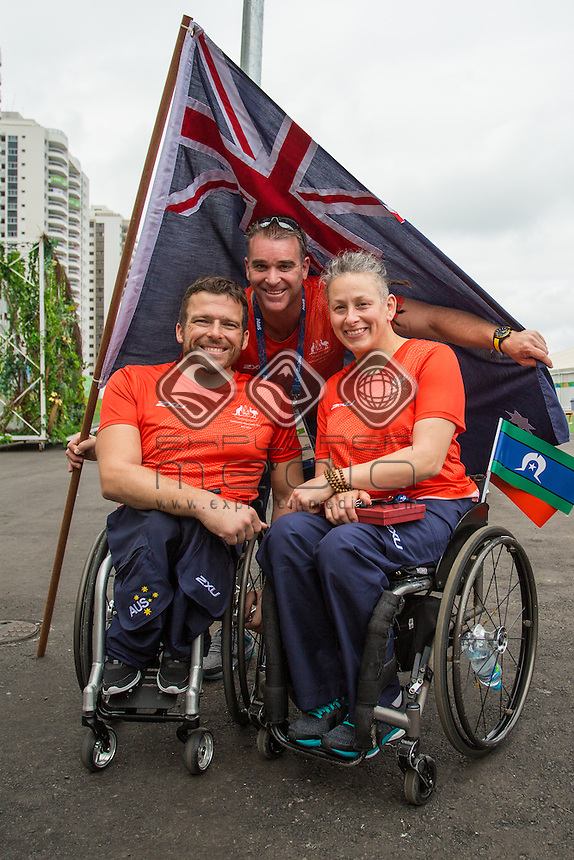 Australian Welcome ceremony.<br /> 2016 Paralympic Games - RIO Brazil<br /> Australian Paralympic Committee<br /> Monday 5 September 2016<br /> &copy; Sport the library / Drew Chislett
