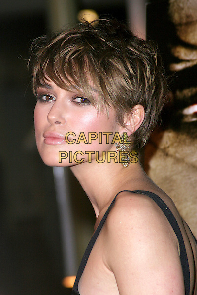"KEIRA KNIGHTLEY.""The Jacket"" Special Los Angeles Screening held at the ArcLight Cinemas..Hollywood, CA .February 28th, 2005.Photo Credit: Jacqui Wong/AdMedia.headshot portrait silver earrings.www.capitalpictures.com.sales@capitalpictures.com.© Capital Pictures."