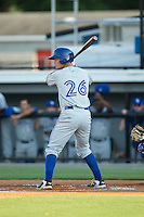 Carl Wise (26) of the Bluefield Blue Jays at bat against the Burlington Royals at Burlington Athletic Park on June 29, 2015 in Burlington, North Carolina.  The Royals defeated the Blue Jays 4-1. (Brian Westerholt/Four Seam Images)