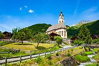 Oesterreich, Osttirol, Virgental, Obermauern: Wallfahrtskirche zu Unserer Lieben Frau Maria-Schnee | Austria, East-Tyrol, Virgen Valley, Obermauern: pilgrimage church Mary Snow