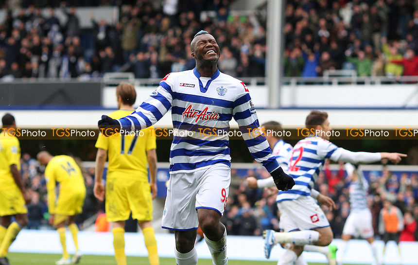 Djibril Cisse scores QPR's goal and celebrates - Queens Park Rangers vs Reading, Barclays Premier League at Loftus Road, London - 04/11/12 - MANDATORY CREDIT: Rob Newell/TGSPHOTO - Self billing applies where appropriate - 0845 094 6026 - contact@tgsphoto.co.uk - NO UNPAID USE.