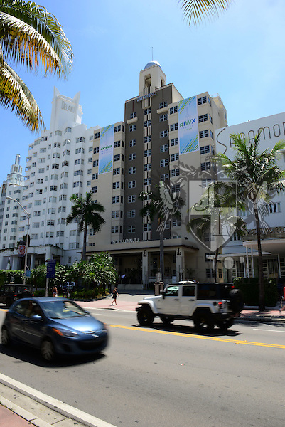 MIAMI BEACH, FL - JUNE 21: Exterior General view of the National Hotel changing they name to the DJ Irie Hotel during Irie Weekend-IWX - BBQ Beach Bash Pool Party at National Hotel on Saturday June 21, 2014 in Miami Beach, Florida. (Photo by Johnny Louis/jlnphotography.com)
