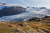 Exit glacier, Kenai Fjords National Park,  Kenai Peninsula, southcentral, Alaska.