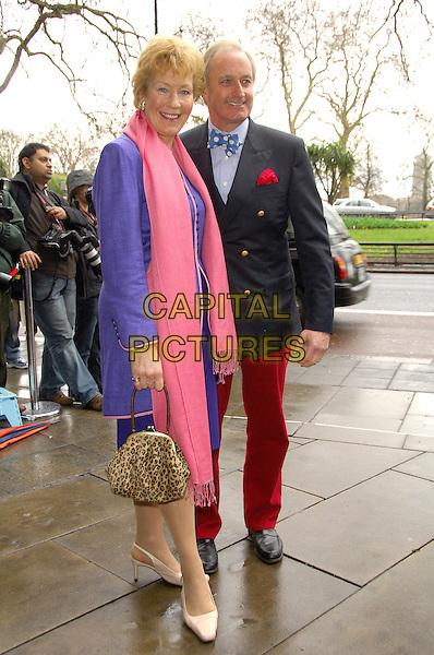 CHRISTINE & NEIL HAMILTON.TRIC Awards 2008, held in the .Great Room at Grosvenor House, .Park Lane, London, England, .March 11th 2008   .full length pink scarf purple jacket.CAP/CAS.?Bob Cass/Capital Pictures
