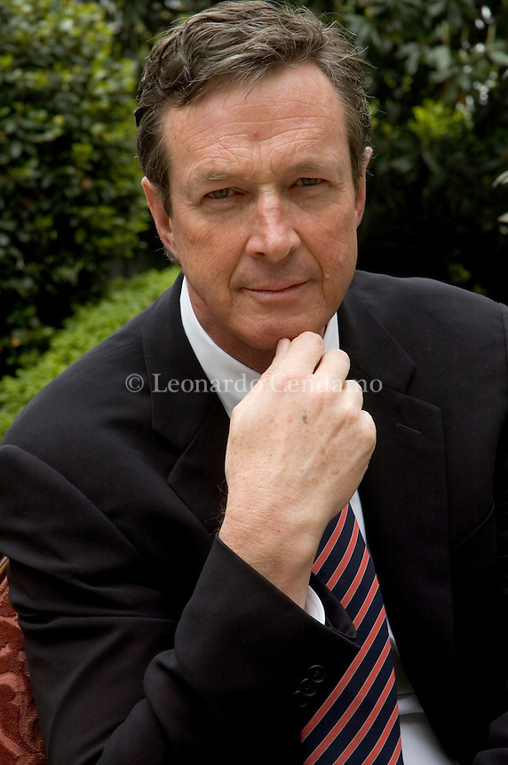 Milan, Italy, September 2005. Michael Crichton, American writer, screenwriter, director and producer. Author of the best-seller 'Jurassic Park', adapted for the film version directed by Steven Spielberg. Mr Crichton died in 2008.