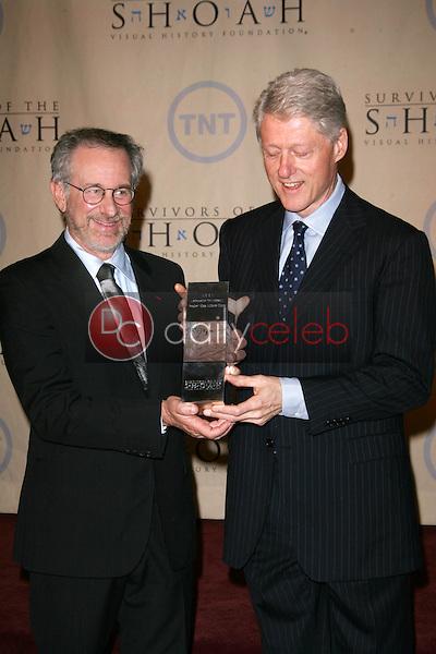 Steven Spielberg and President William Jefferson Clinton