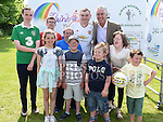 FAI President John Delaney pictured with members of the Rainbow Club. Photo:Colin Bell/pressphotos.ie