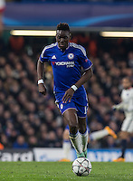 Bertrand Traore of Chelsea on the ball during the UEFA Champions League Round of 16 2nd leg match between Chelsea and PSG at Stamford Bridge, London, England on 9 March 2016. Photo by Andy Rowland.